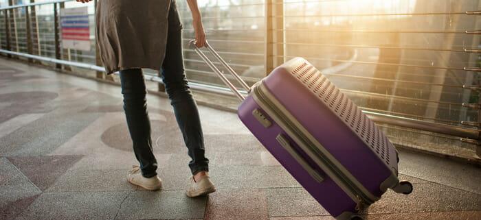 กระเป๋าเดินทางแบบโพลีคาร์บอเนตแบบ 4 ล้อ