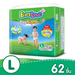 BabyLove กางเกงผ้าอ้อม รุ่น DayNight Pants Plus ไซส์ L 62 ชิ้น