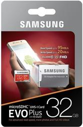 Samsung EVO Plus Micro SDXC Class: 10 / U3 (100MB/s) – 32GB