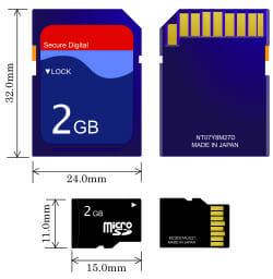 การ์ด SD หรือ การ์ด microSD?