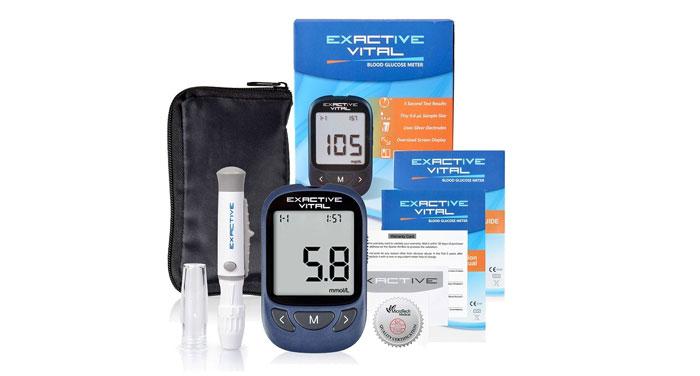เครื่องตรวจวัดระดับน้ำตาลกลูโคสในเลือด เอ็กแซ็คทีฟ ไวทัล Exactive Vital