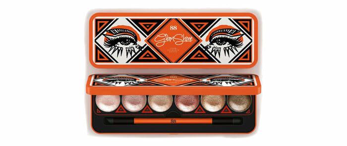 ver 88 eyeshadow Glam Shine Cream Eyeshadow Palette อายแชโดว์เนื้อครีม