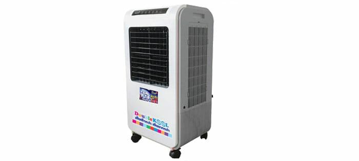 KOOL+ พัดลมไอเย็น Double KOOL รุ่น AC-801 (สีขาว) แถมฟรี cooling pack 2 ชิ้น