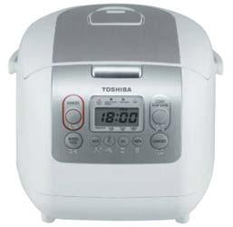 Toshiba หม้อหุงข้าวดิจิตอล - รุ่น RC-10NMF(WT)A 1 ลิตร