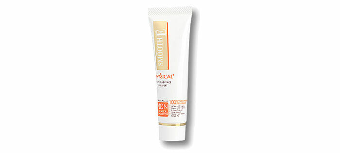 SMOOTH E Physical White Babyface UV Expert สีเบจ 40 กรัม